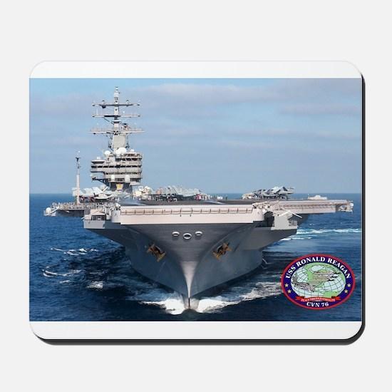 USS Ronald Reagan CVN-76 Mousepad