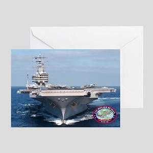 USS Ronald Reagan CVN-76 Greeting Card