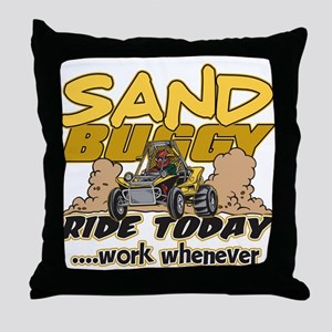 Sand Buggy Ride Today Throw Pillow