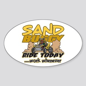 Sand Buggy Ride Today Oval Sticker