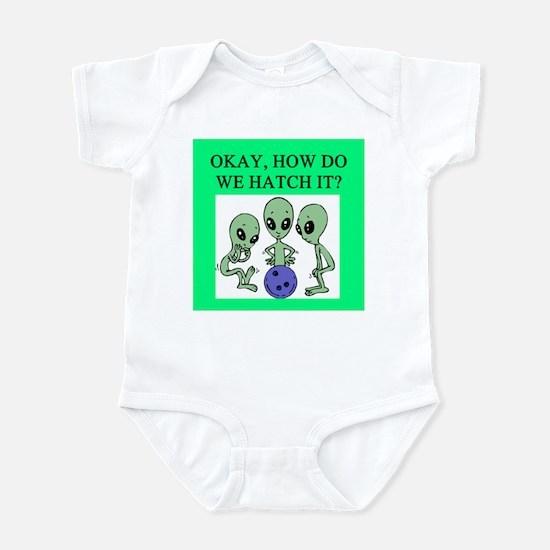 alien bowling joke Infant Bodysuit
