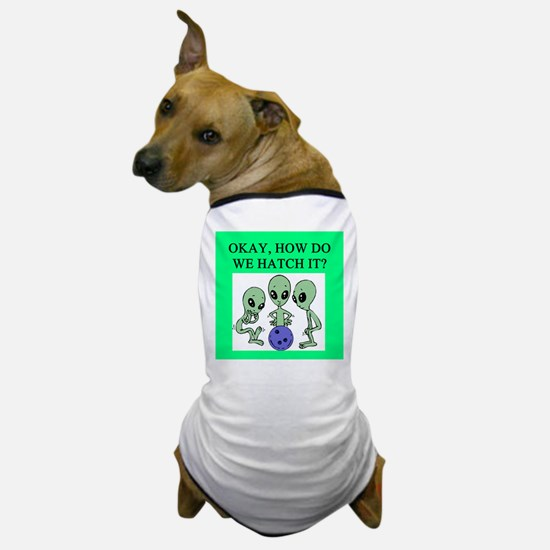 alien bowling joke Dog T-Shirt