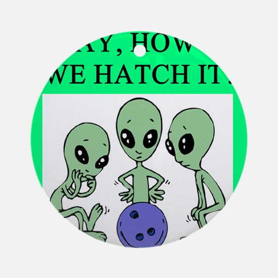 alien bowling joke Ornament (Round)