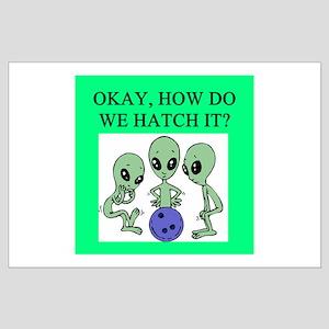 alien bowling joke Large Poster