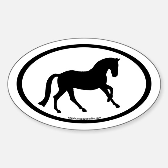 Canter Horse Oval Oval Decal
