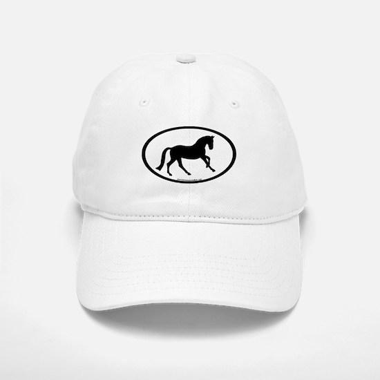 Canter Horse Oval Baseball Baseball Cap