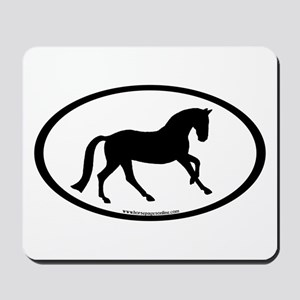 Canter Horse Oval Mousepad