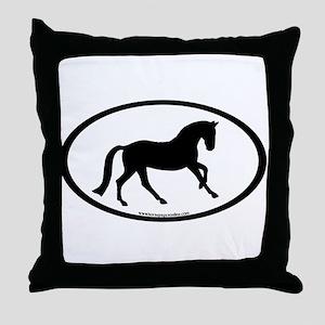 Canter Horse Oval Throw Pillow