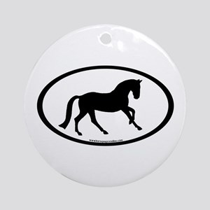 Canter Horse Oval Ornament (Round)