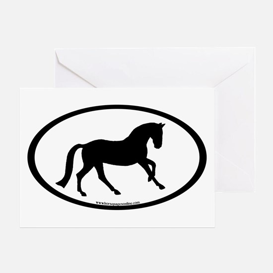 Canter Horse Oval Greeting Card