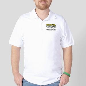 """Have No Fear, Swim Coach"" Golf Shirt"