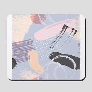 Colorful brushstrokes artsy composition Mousepad