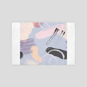Colorful brushstrokes artsy compositio 4' x 6' Rug