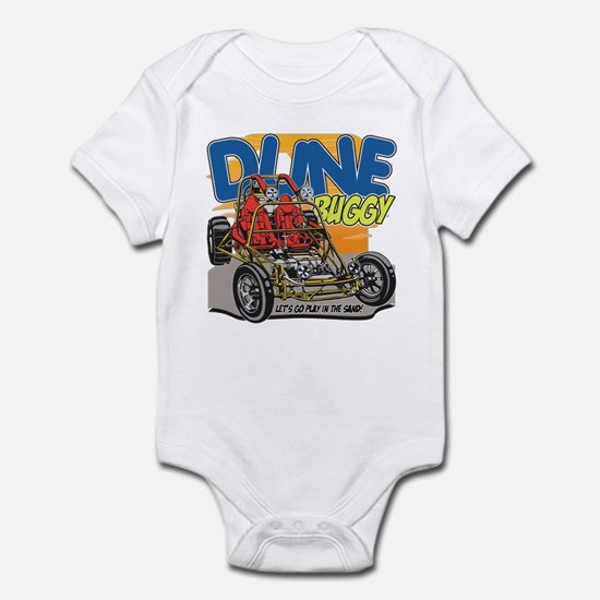 Dune Buggy Let's Go Play in the Sa Infant Bodysuit