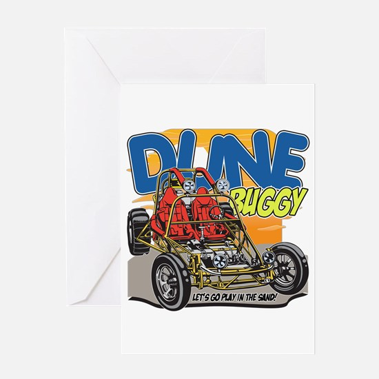 Dune Buggy Let's Go Play in the Sand Greeting Card