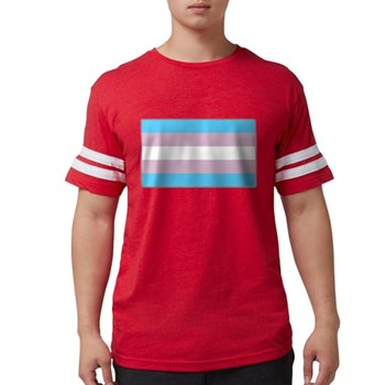 Transgender Pride Flag Mens Football Shirt