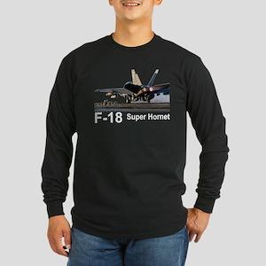 F-18 Super Hornet Long Sleeve Dark T-Shirt