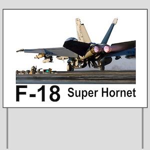 F-18 Super Hornet Yard Sign
