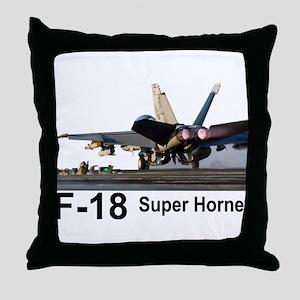 F-18 Super Hornet Throw Pillow