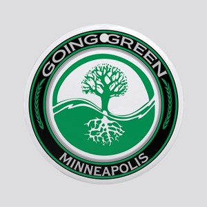 Going Green Minneapolis Tree Ornament (Round)