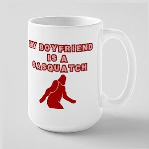 FUNNY BOYFRIEND SHIRT MY BOYF Large Mug