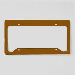 Golden Brown License Plate Holder