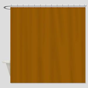Golden Brown Shower Curtain