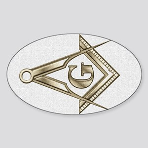 Tinted Square and Compasses Oval Sticker