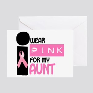 I Wear Pink For My Aunt 9.2 Greeting Card