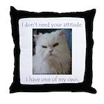 Monster Attitude Throw Pillow