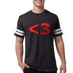 Less than 3 Mens Football Shirt