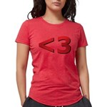 Less than 3 Womens Tri-blend T-Shirt