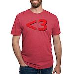 Less than 3 Mens Tri-blend T-Shirt