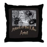 Killer Ants Throw Pillow