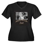 Killer Ants Women's Plus Size V-Neck Dark T-Shirt