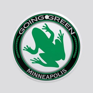 Going Green Minneapolis Frog Ornament (Round)