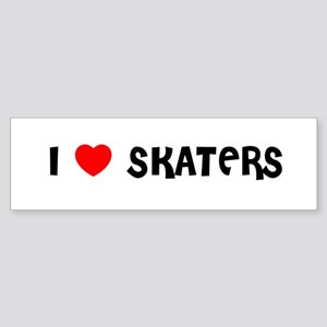 I LOVE SKATERS Bumper Sticker