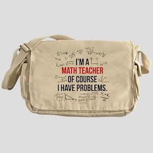 Math Teacher Problems Messenger Bag