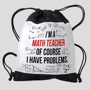 Math Teacher Problems Drawstring Bag