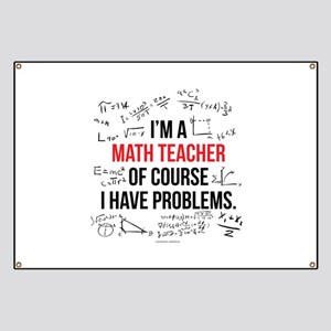 Math Teacher Problems Banner