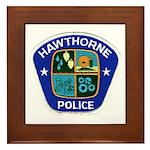 Hawthorne Police Framed Tile