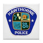 Hawthorne Police Tile Coaster