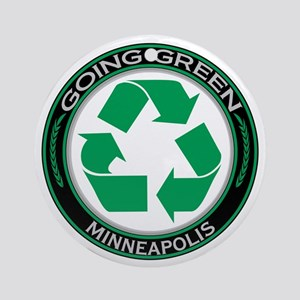 Going Green Minneapolis Recycle Ornament (Round)