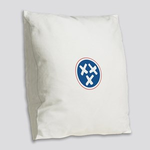 Tennessee Moonshine Burlap Throw Pillow