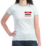 HELLO, MY NAME IS GIGGLES Jr. Ringer T-Shirt