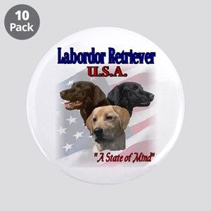 "Labrador Retriever Gifts 3.5"" Button (10 pack"