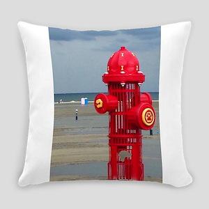 Doggie Beach Hydrant Everyday Pillow