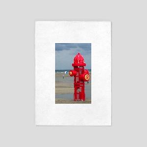 Doggie Beach Hydrant 5'x7'Area Rug