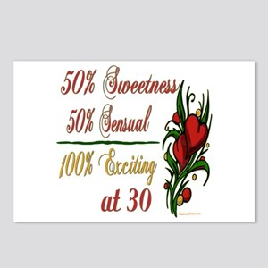 Exciting 30th Postcards (Package of 8)