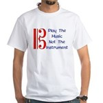 Play the Music Alto Clef White T-Shirt
